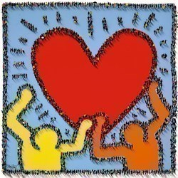 Share The Love by Craig Alan - Box Canvas sized 30x30 inches. Available from Whitewall Galleries